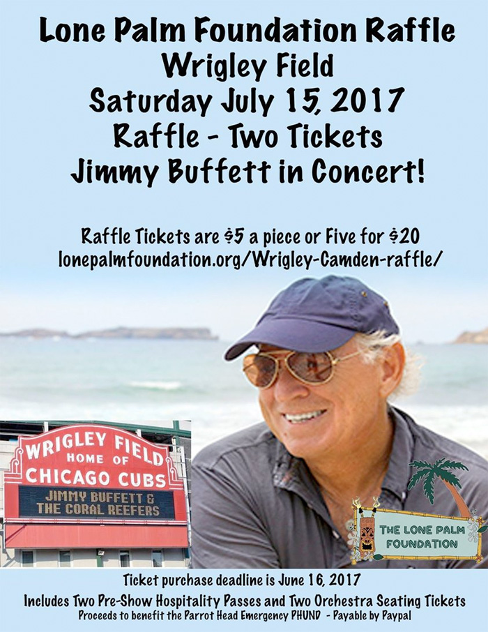 Jimmy Buffett Concert Tickets Wrigley Field