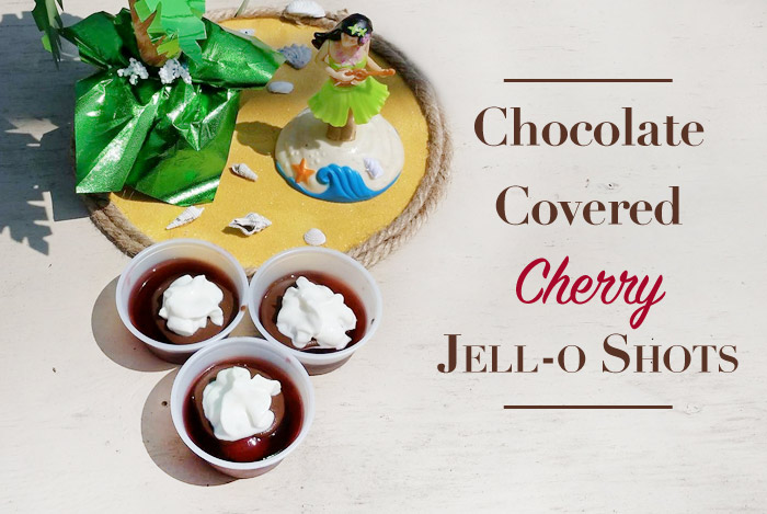 Chocolate Covered Cherry Jello Shot
