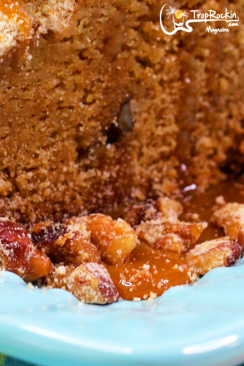 Coffee crumb cake streusel topping close up photo